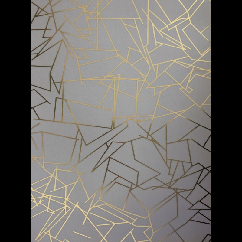 Grey gold wallpaper Angles zinc grey and gold wallpaper | Metallic wallpaper | Geometric wallpaper