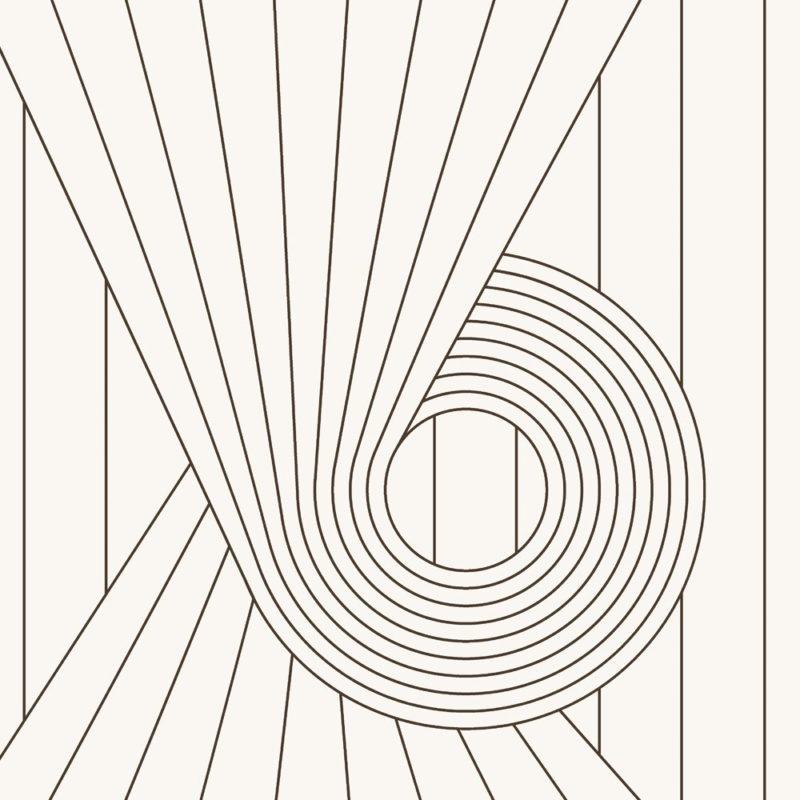 Spiral brown cream wallpaper