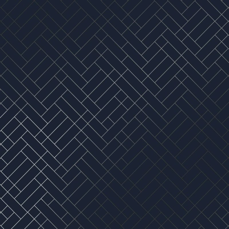 Tapet Cafe Tile navy blue and silver wallpaper