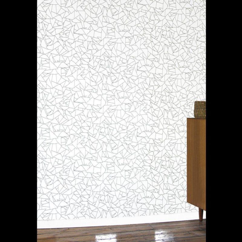 Windmill black white - subtle wallpaper